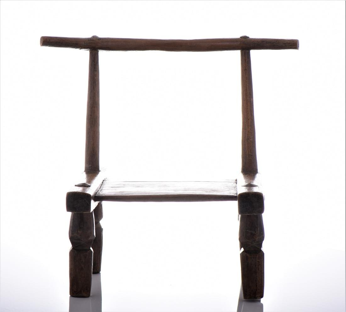 African Wood Carved Chair.