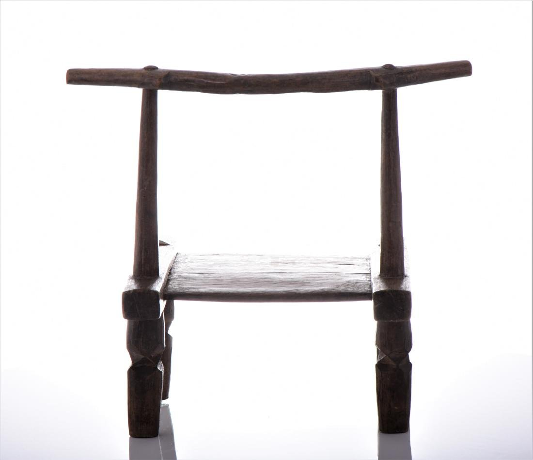 African Wood Carved Chair. - 3
