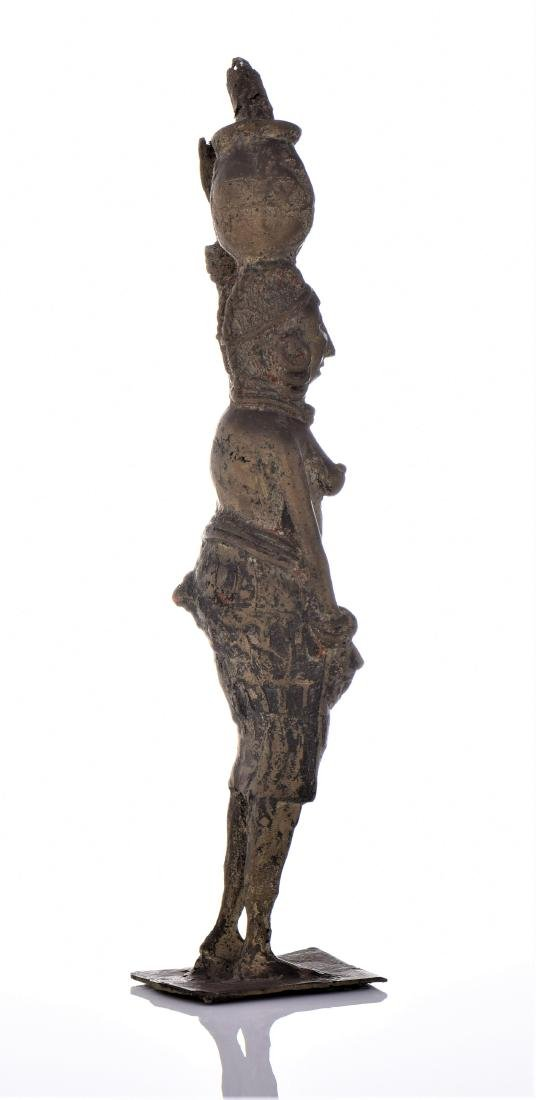 Antique Brass South African Sculptures of Woman - 2