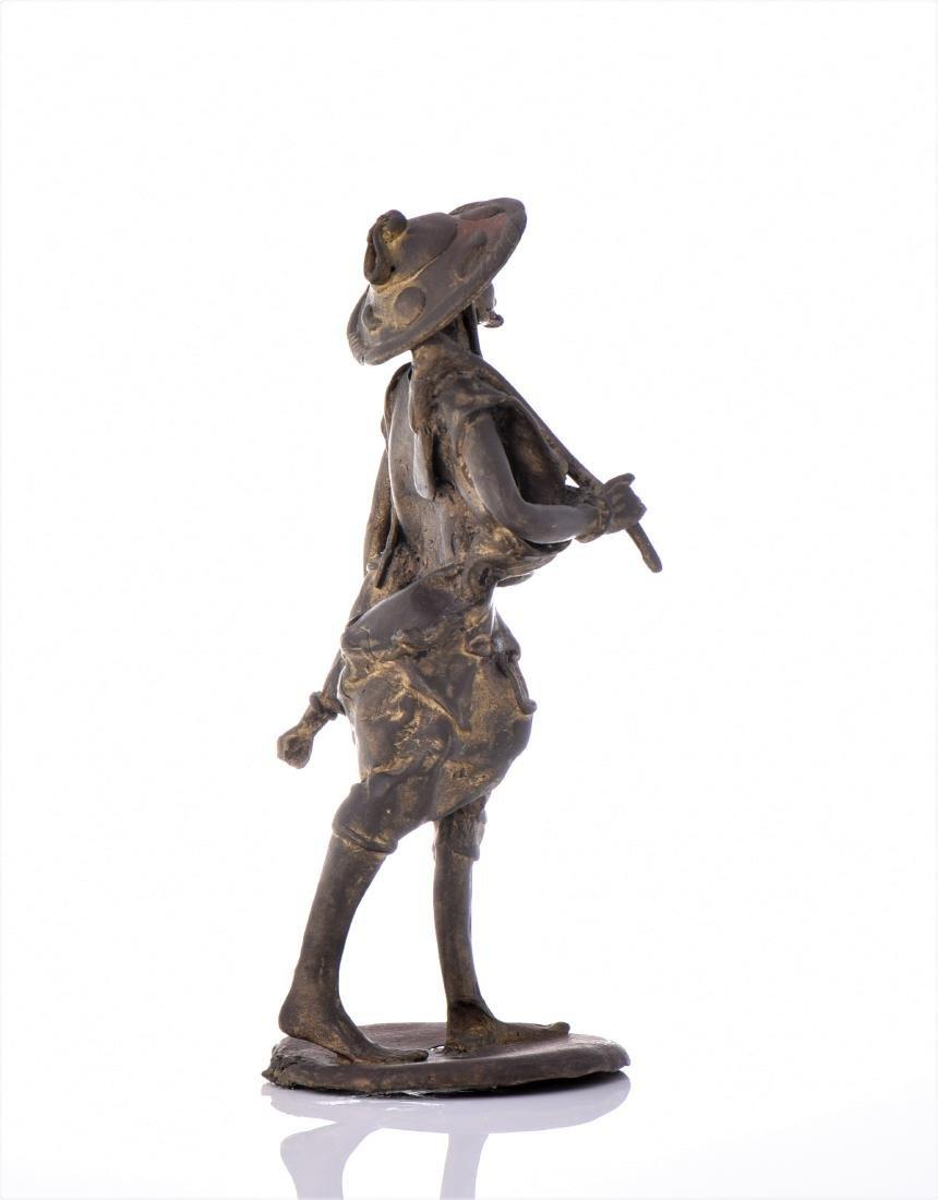 Vintage Bronze African Farmer. - 2