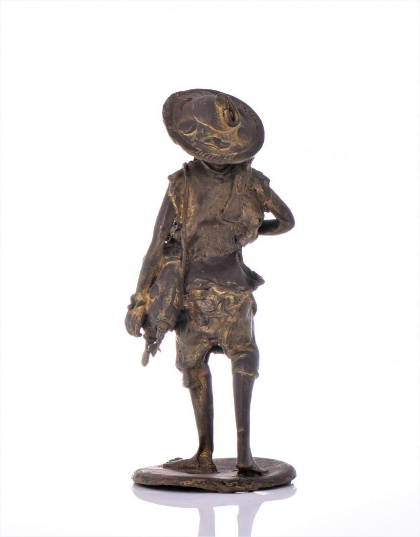 Vintage Bronze African Farmer. - 3