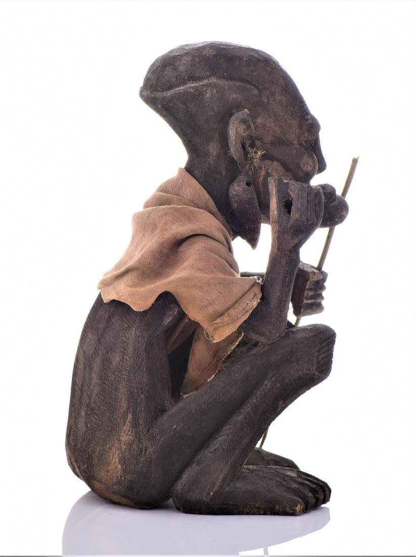African Tribal Medicine Man Wood Sculpture. - 2