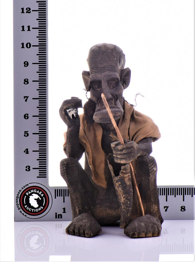 African Tribal Medicine Man Wood Sculpture. - 6