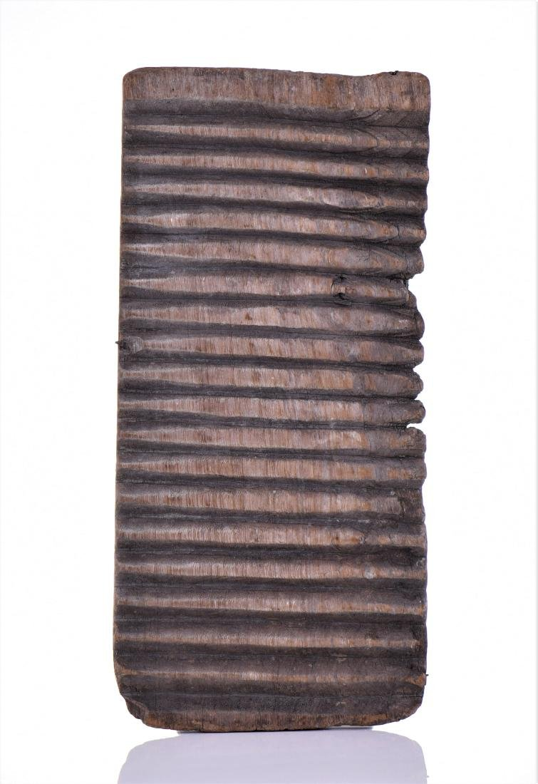 Antique African Textile Wash Board.