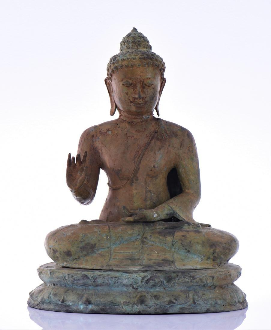 Antique Bronze Temple Buddha