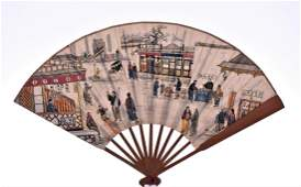 Rare Antique Chinese Folding Fan