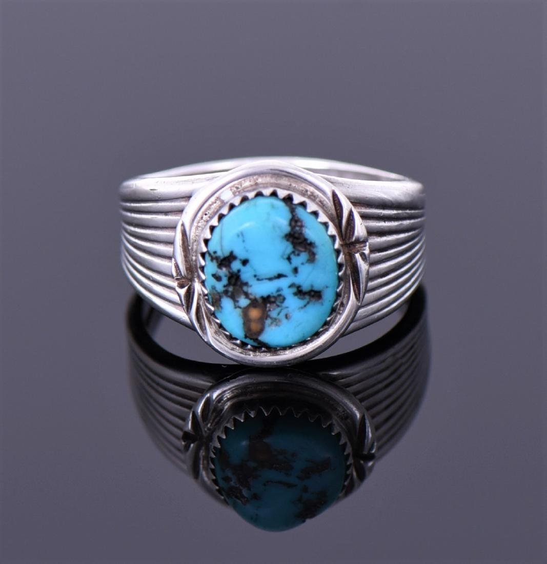 Navajo Native American South West Blue Ring