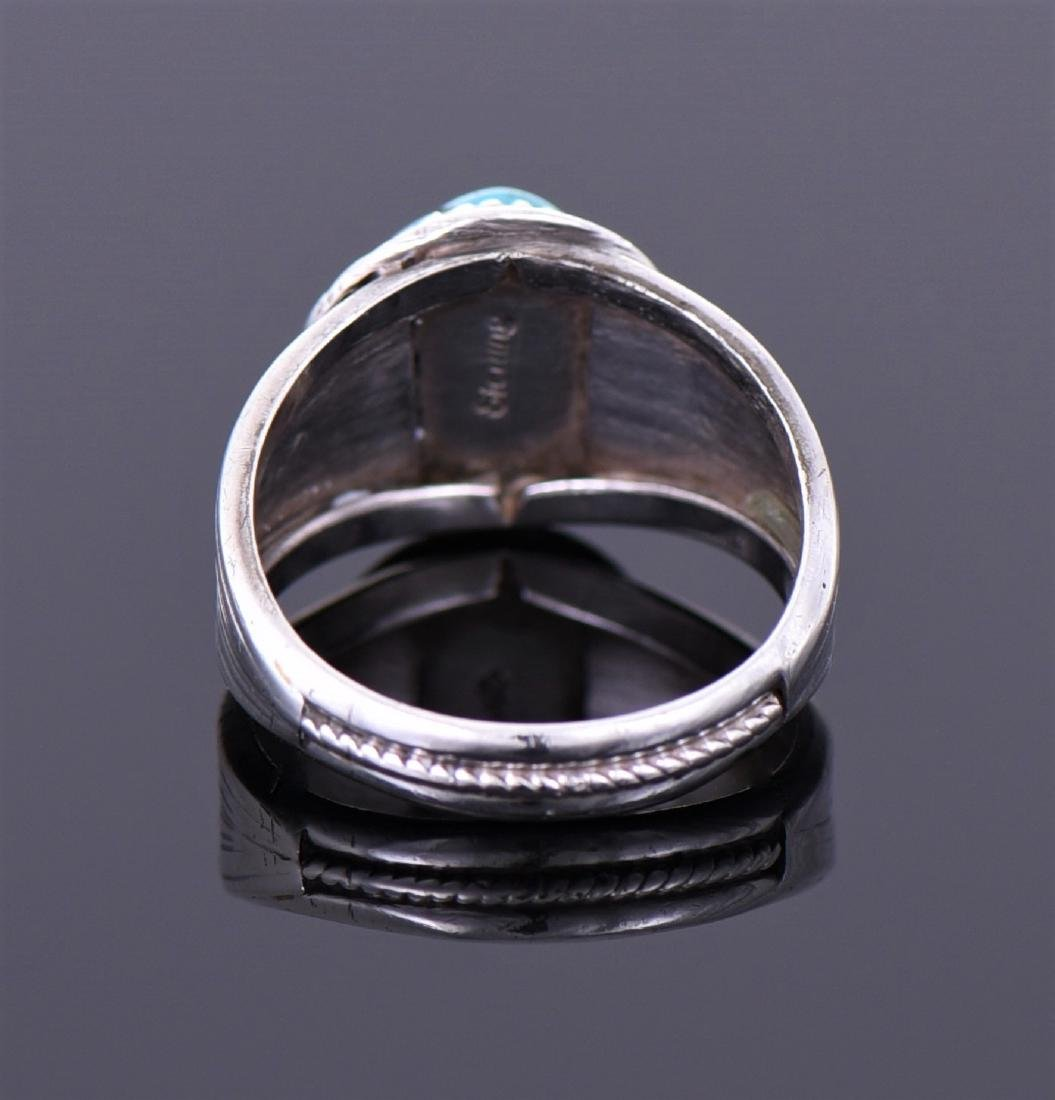 Navajo Native American South West Blue Ring - 2