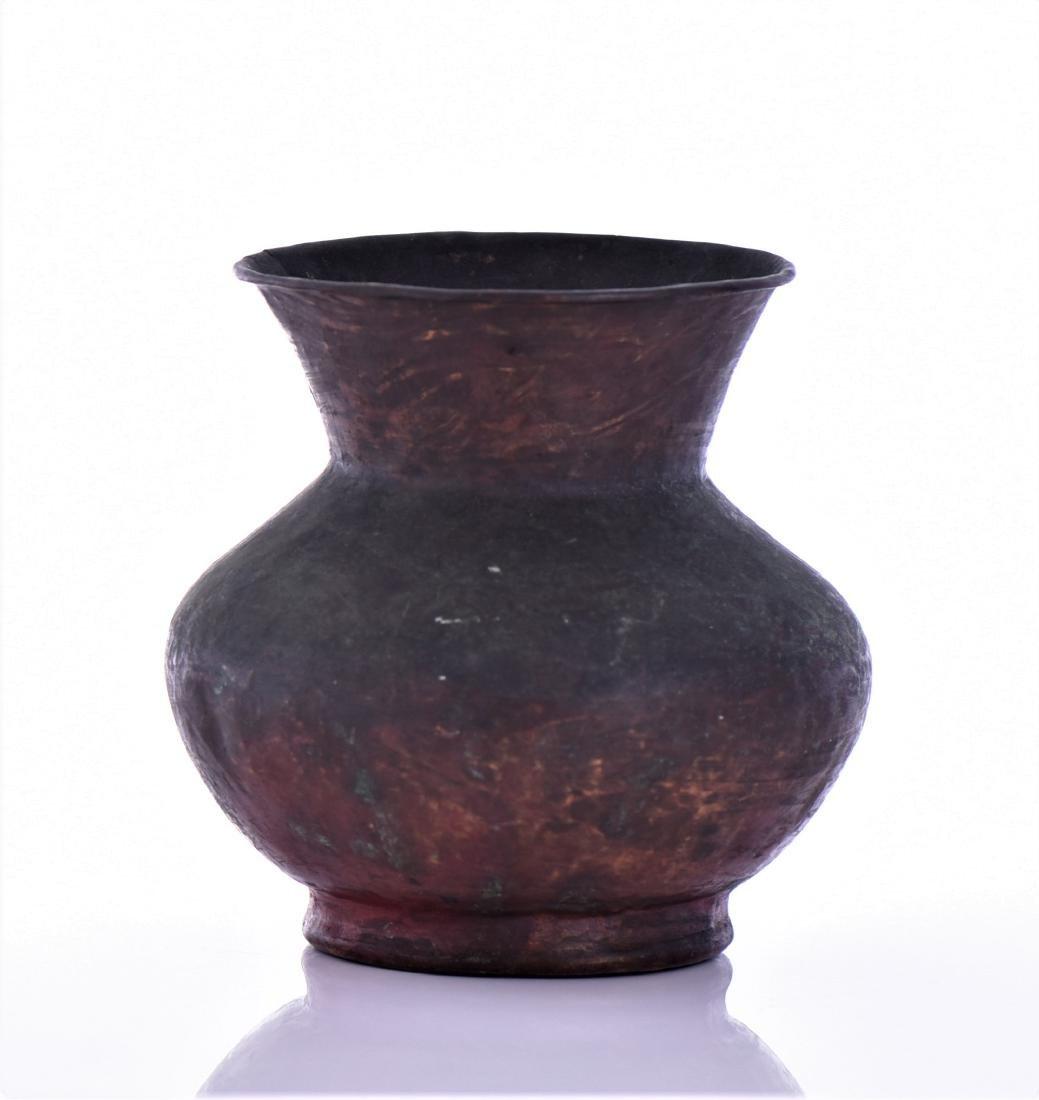 Antique Small Copper Pot - 4