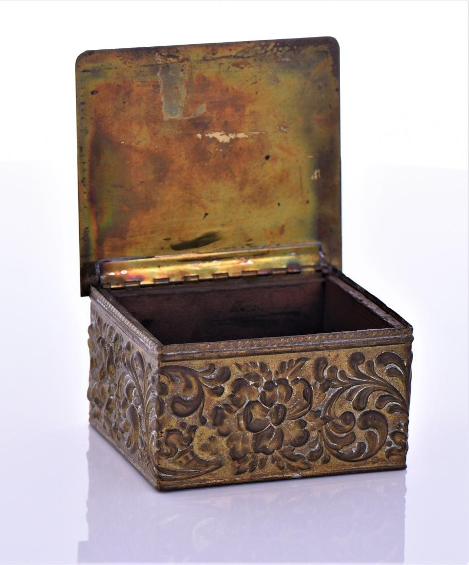 Vintage Brass Box With Lion Pull Ring - 5