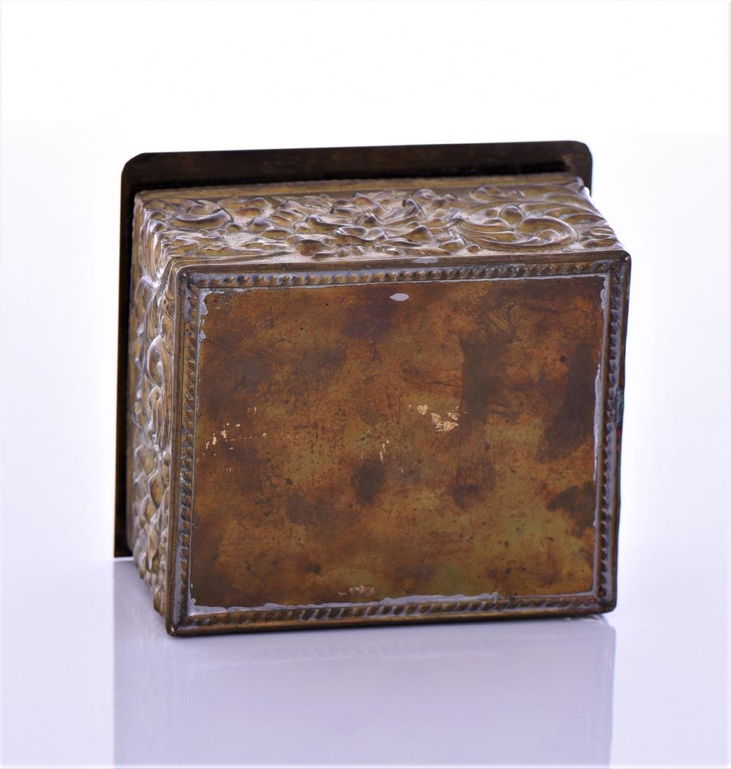 Vintage Brass Box With Lion Pull Ring - 6