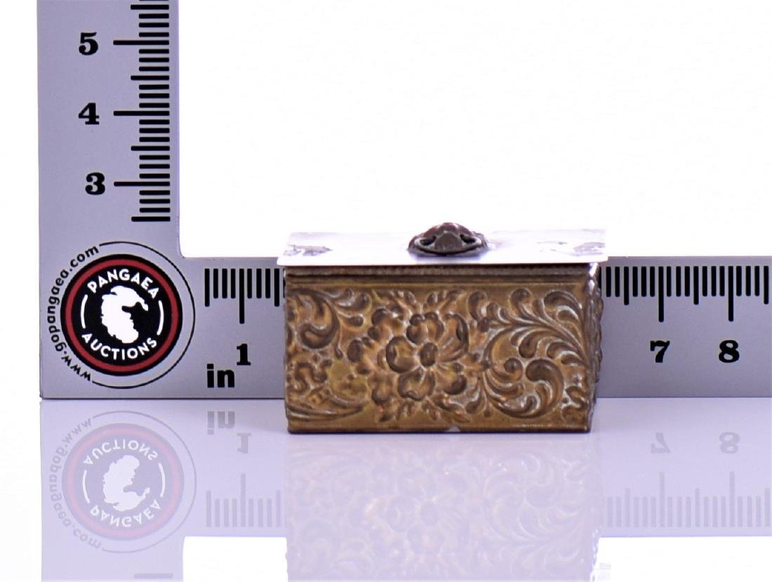 Vintage Brass Box With Lion Pull Ring - 7