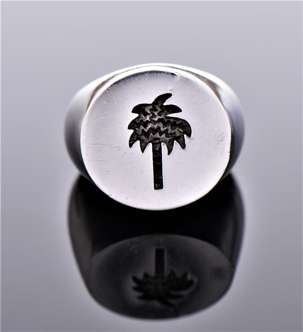 Palm Tree Sterling Silver Ring.