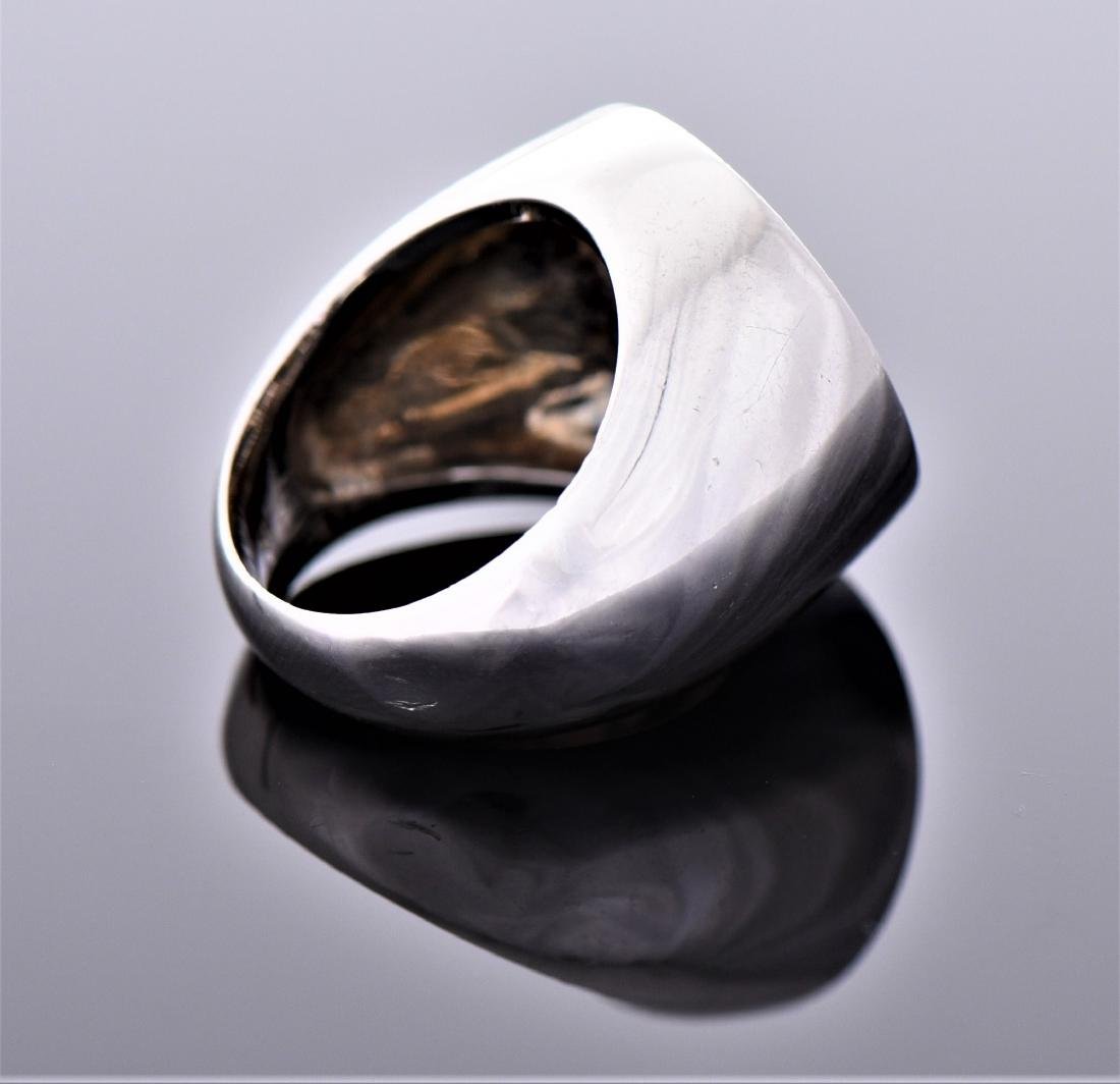 Palm Tree Sterling Silver Ring. - 2