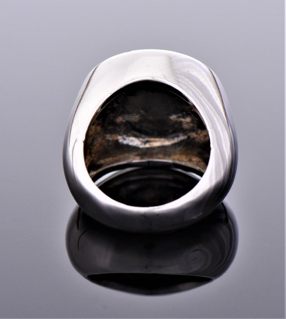 Palm Tree Sterling Silver Ring. - 3