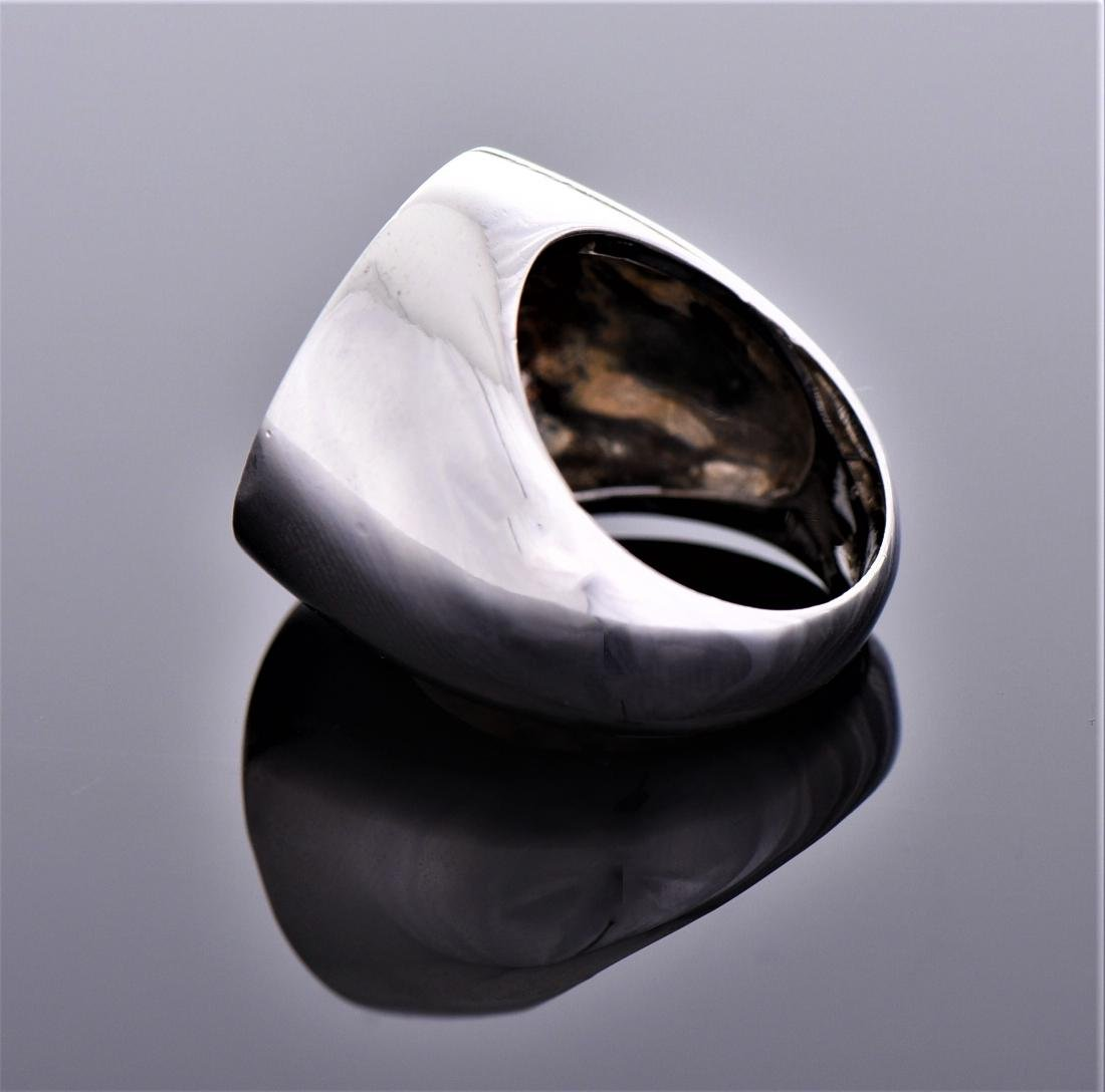 Palm Tree Sterling Silver Ring. - 4