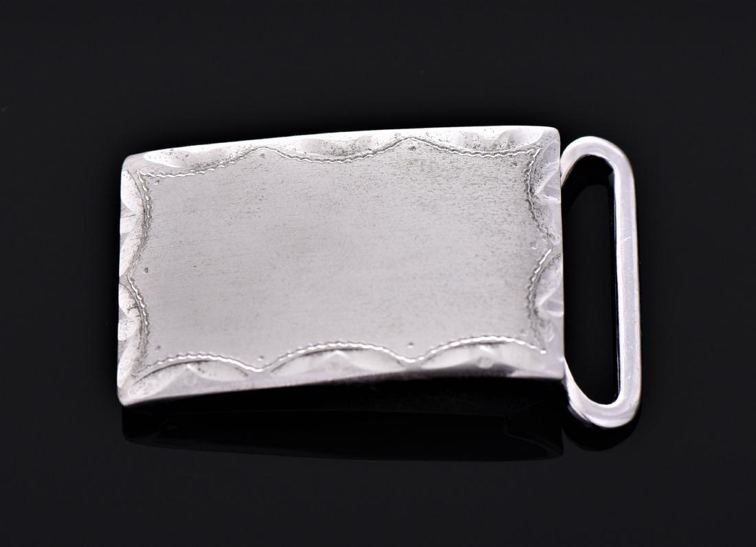 Anson Sterling Silver Belt Buckle.