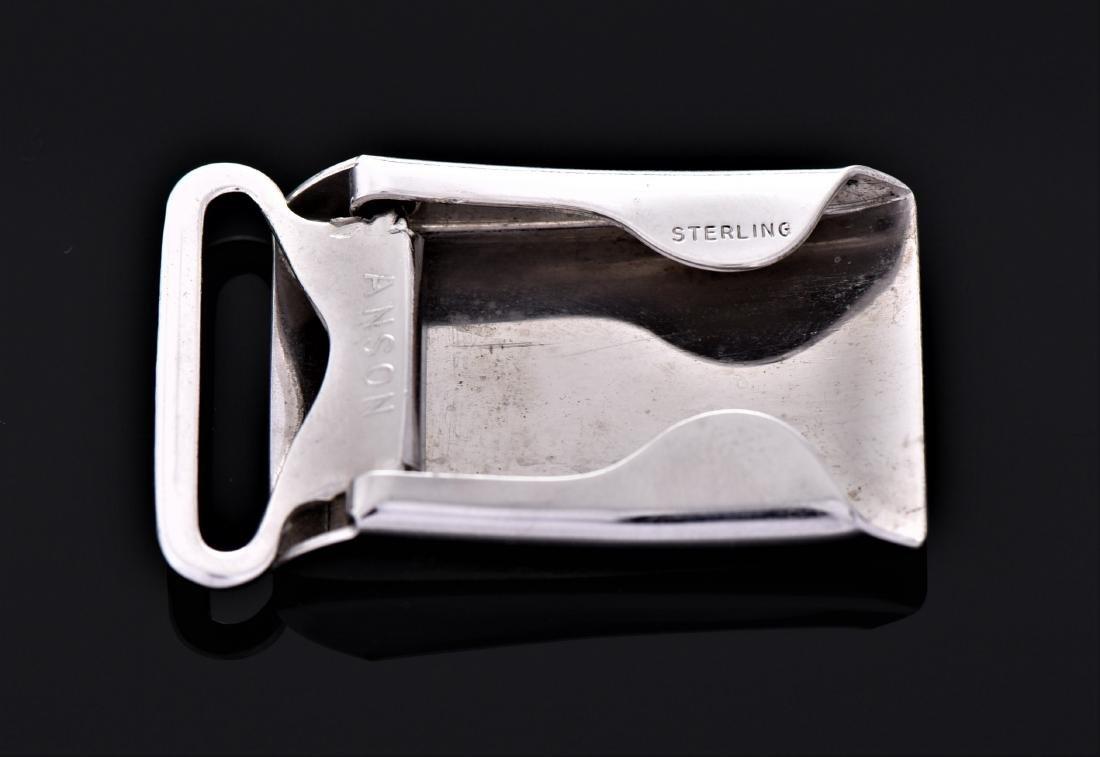 Anson Sterling Silver Belt Buckle. - 2