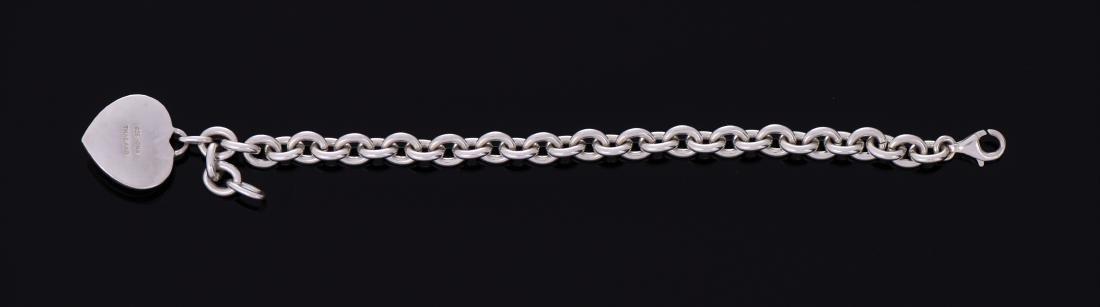 Sterling Silver Amethyst Heart Bracelet. - 2