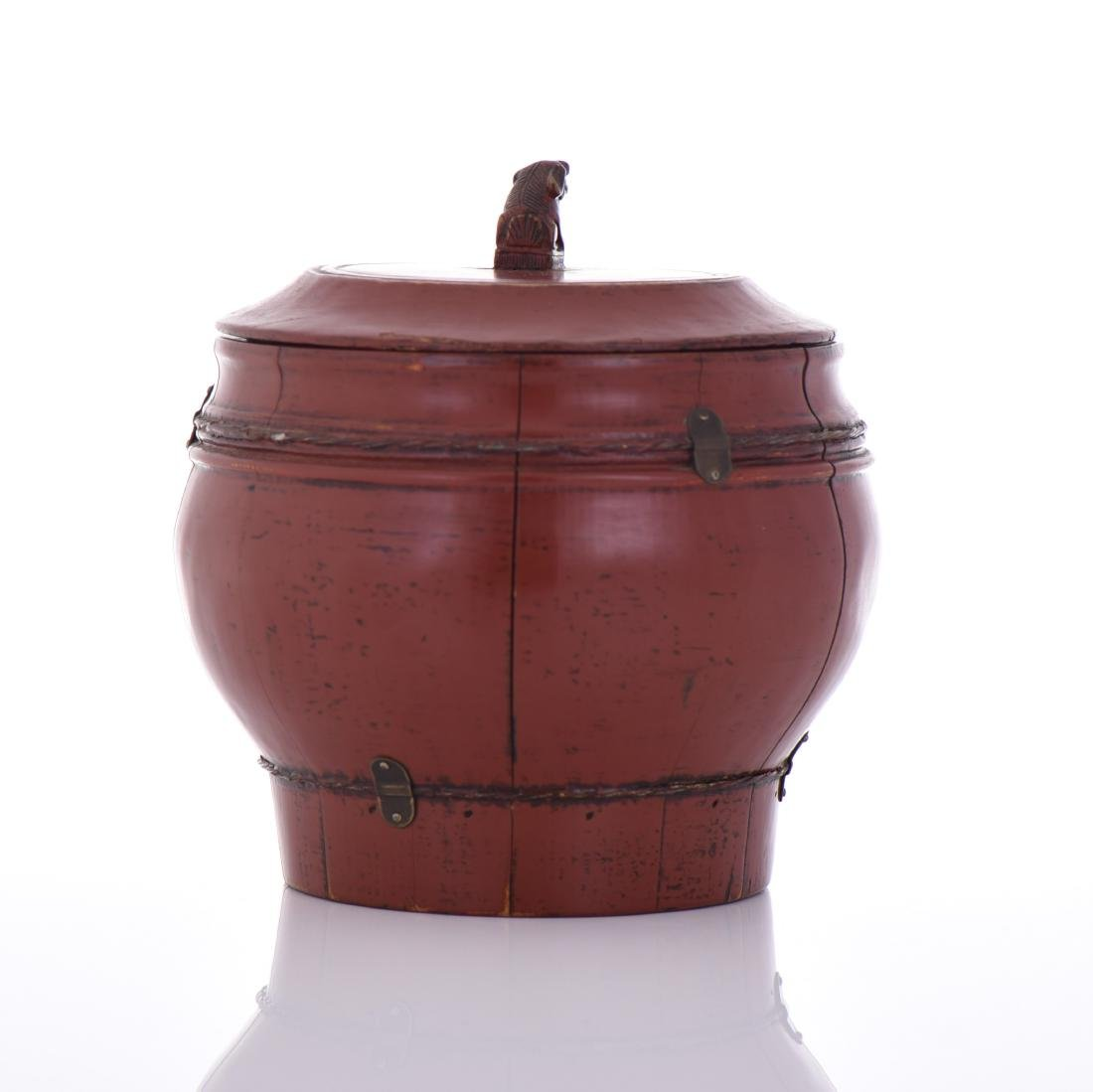 Qing Dynasty Red Lacquered Wood Wedding - 2