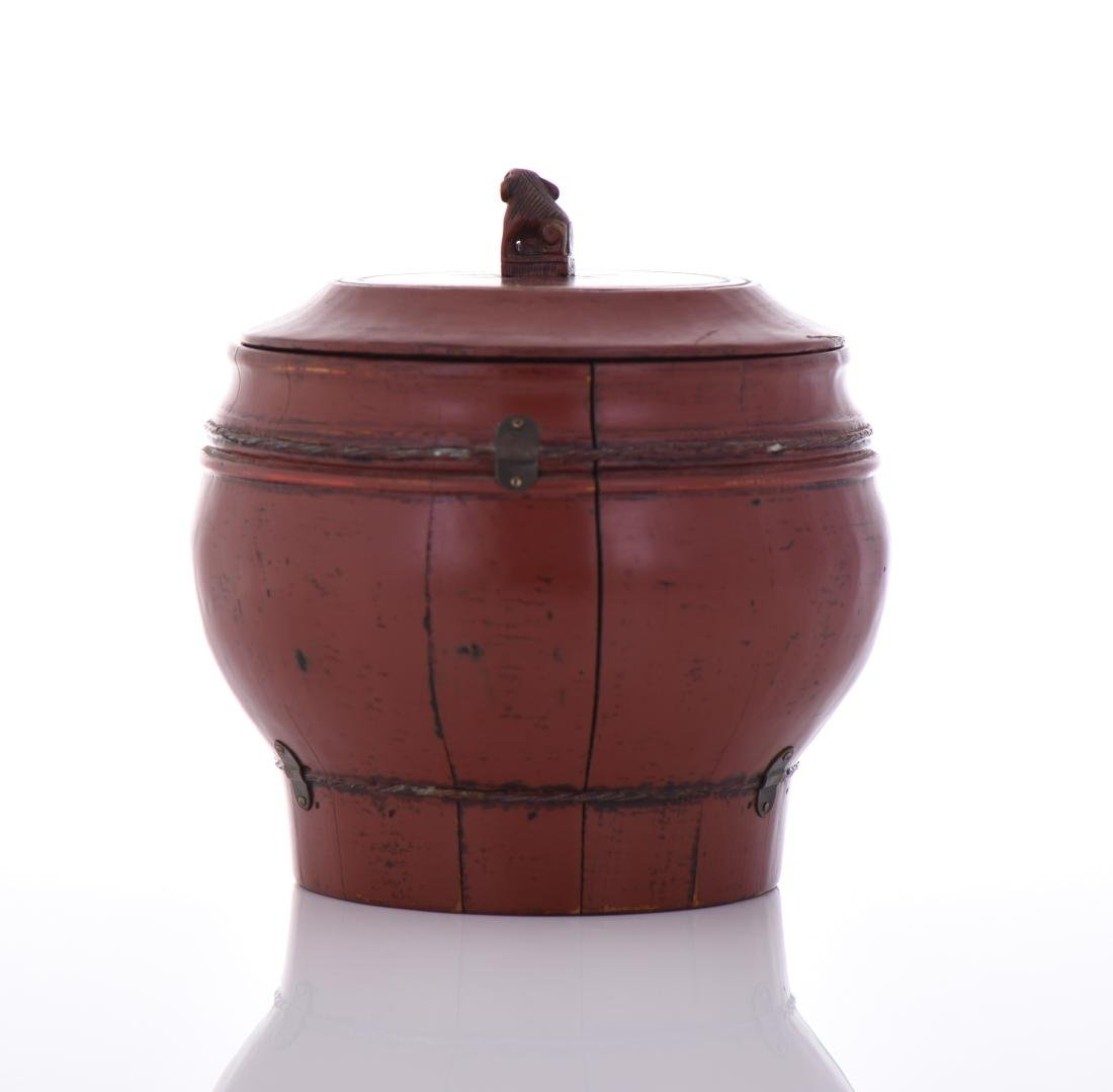 Qing Dynasty Red Lacquered Wood Wedding - 3