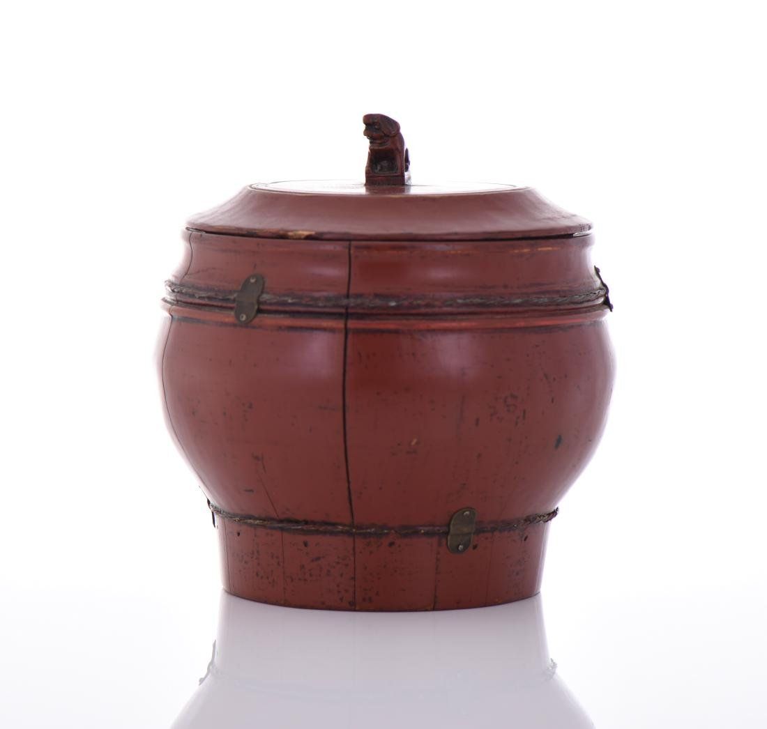 Qing Dynasty Red Lacquered Wood Wedding - 4
