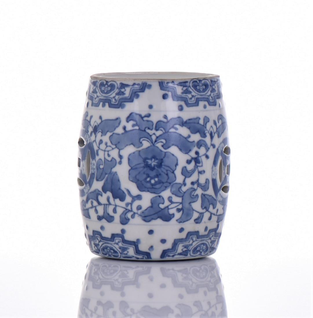 Blue And White Porcelain Miniature Garden Stool - 2