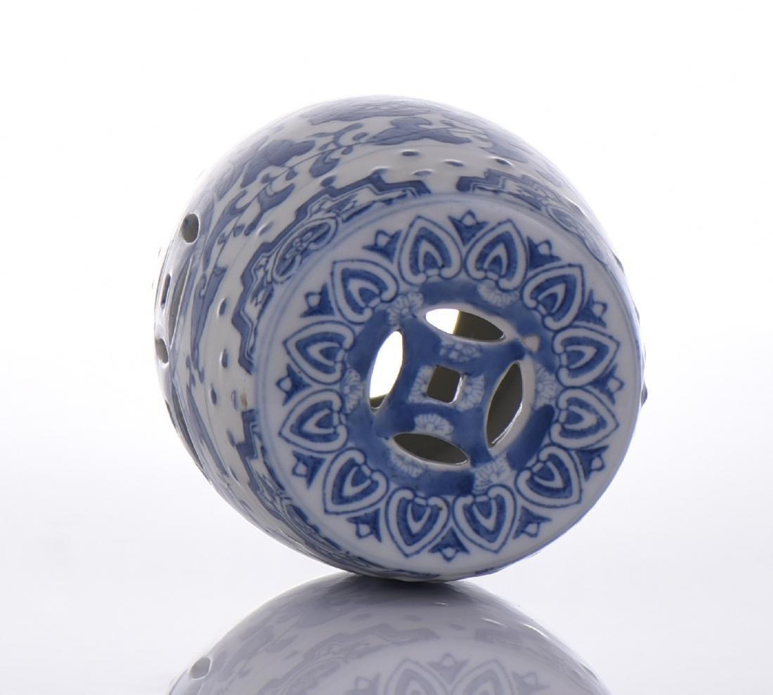 Blue And White Porcelain Miniature Garden Stool - 5