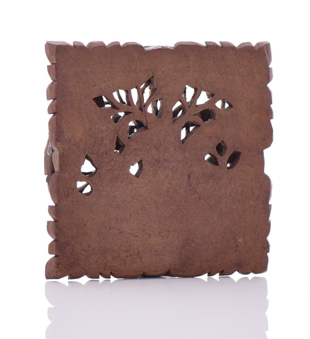 Wood Carved High Relief Panel - 3