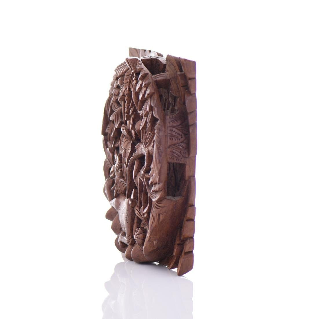 Wood Carved High Relief Panel - 4