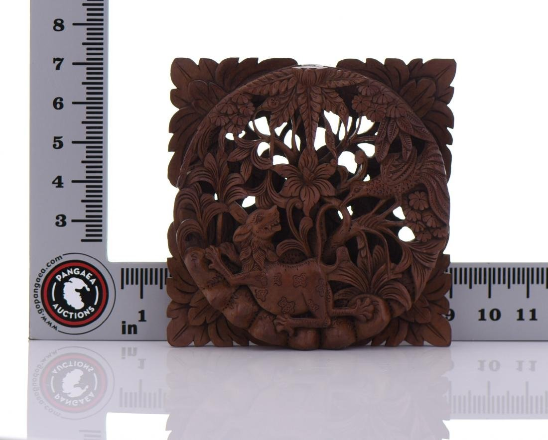 Wood Carved High Relief Panel - 5
