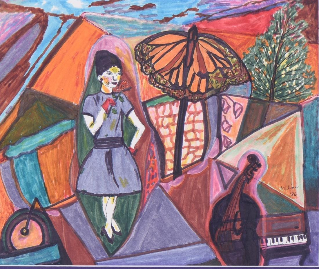 Kline, 1986 Original Watercolor. - 2