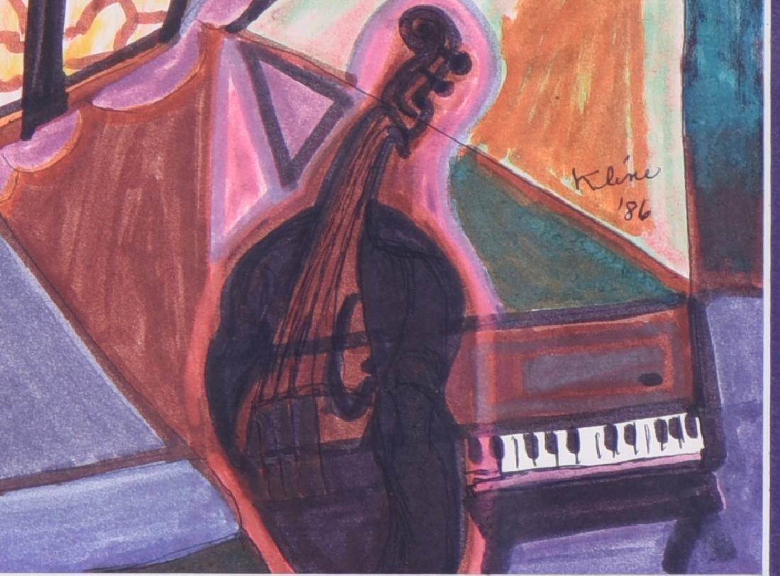 Kline, 1986 Original Watercolor. - 3
