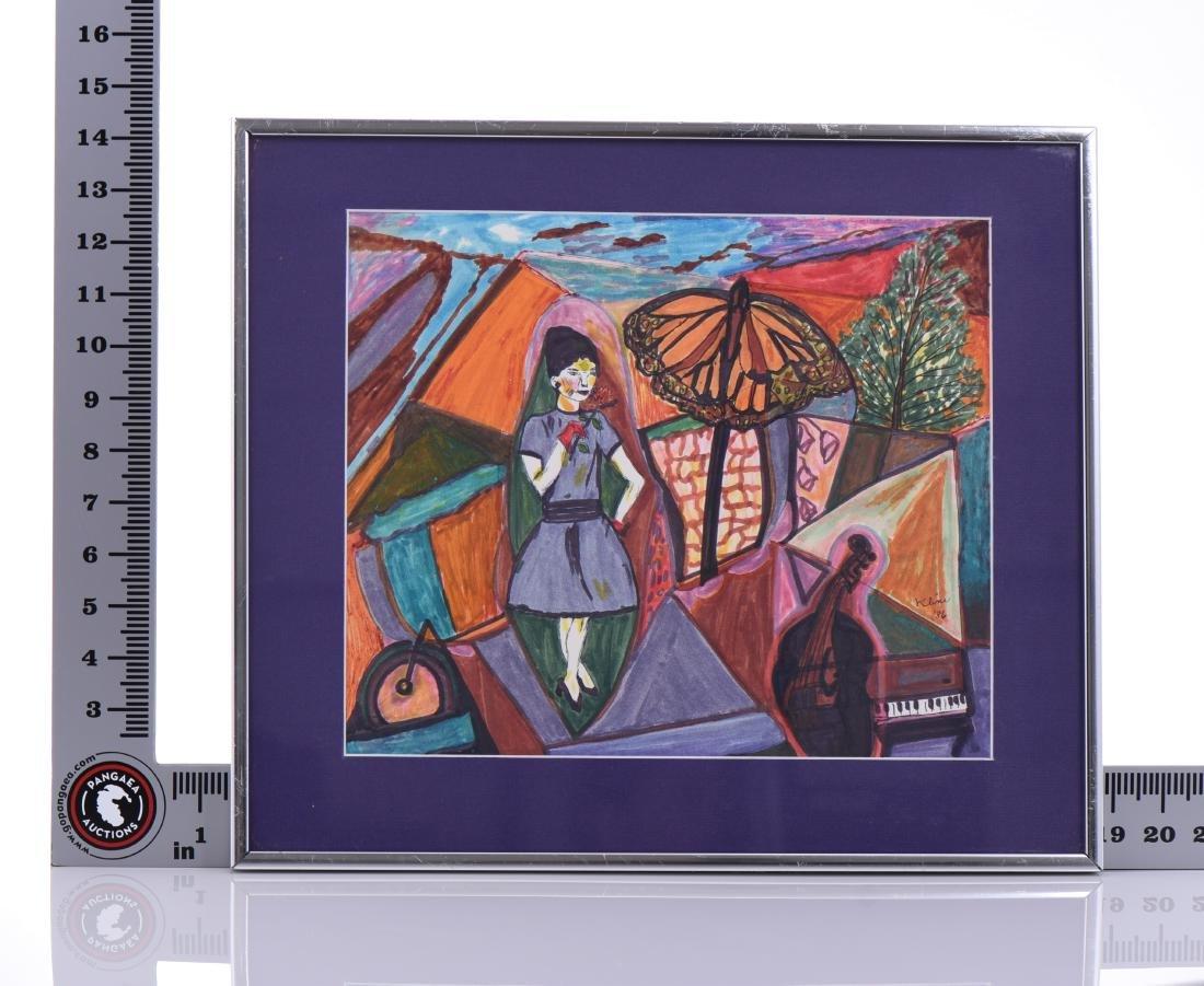 Kline, 1986 Original Watercolor. - 4