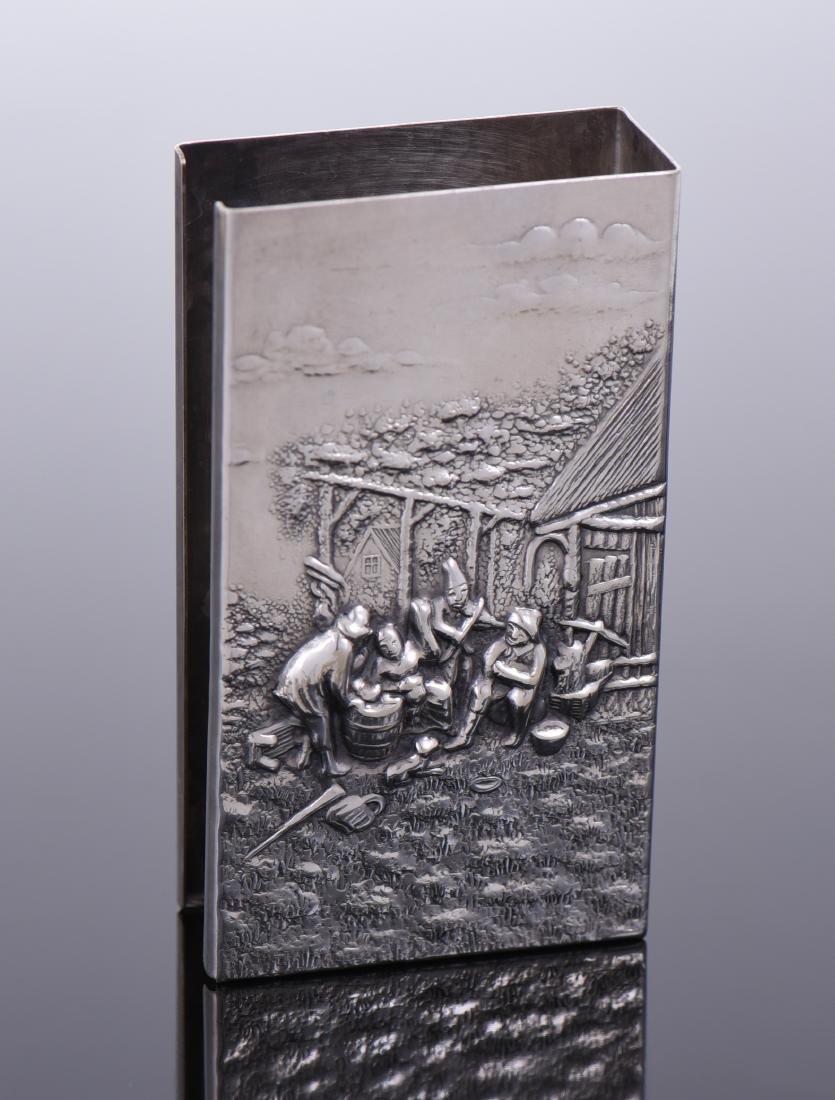 Silver Plated Denmark Cigarette Case