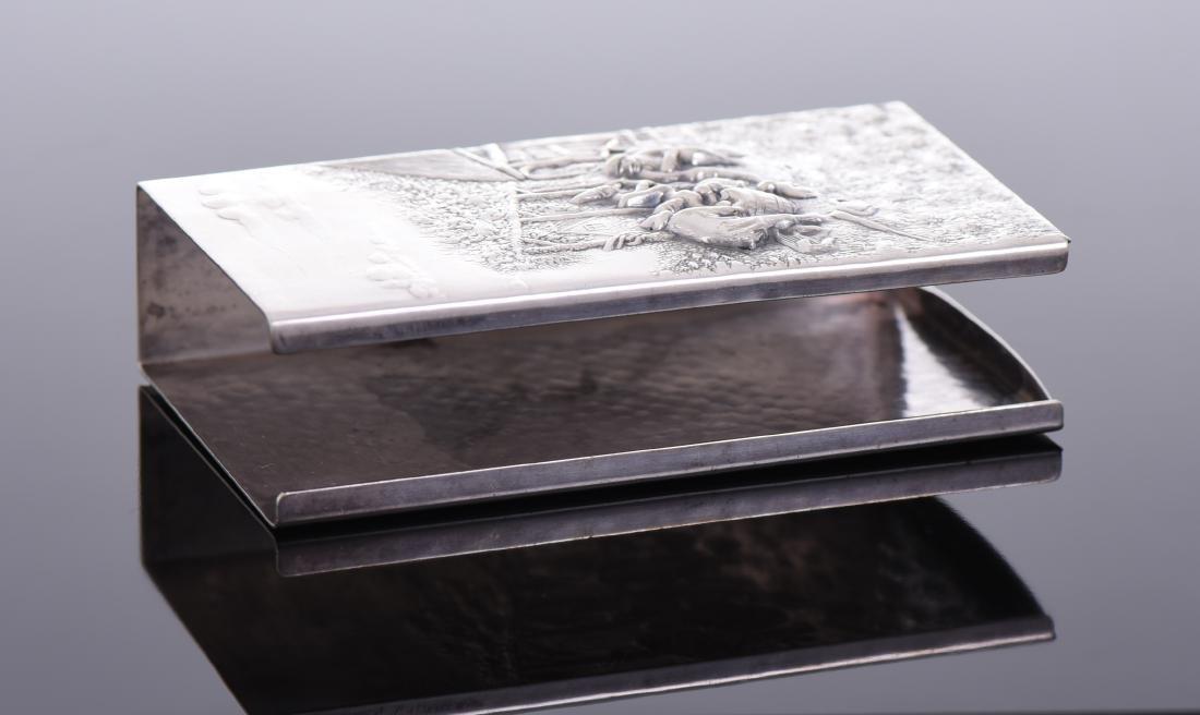 Silver Plated Denmark Cigarette Case - 3