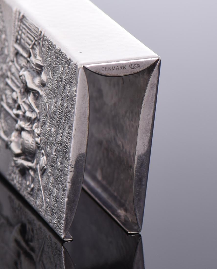 Silver Plated Denmark Cigarette Case - 4
