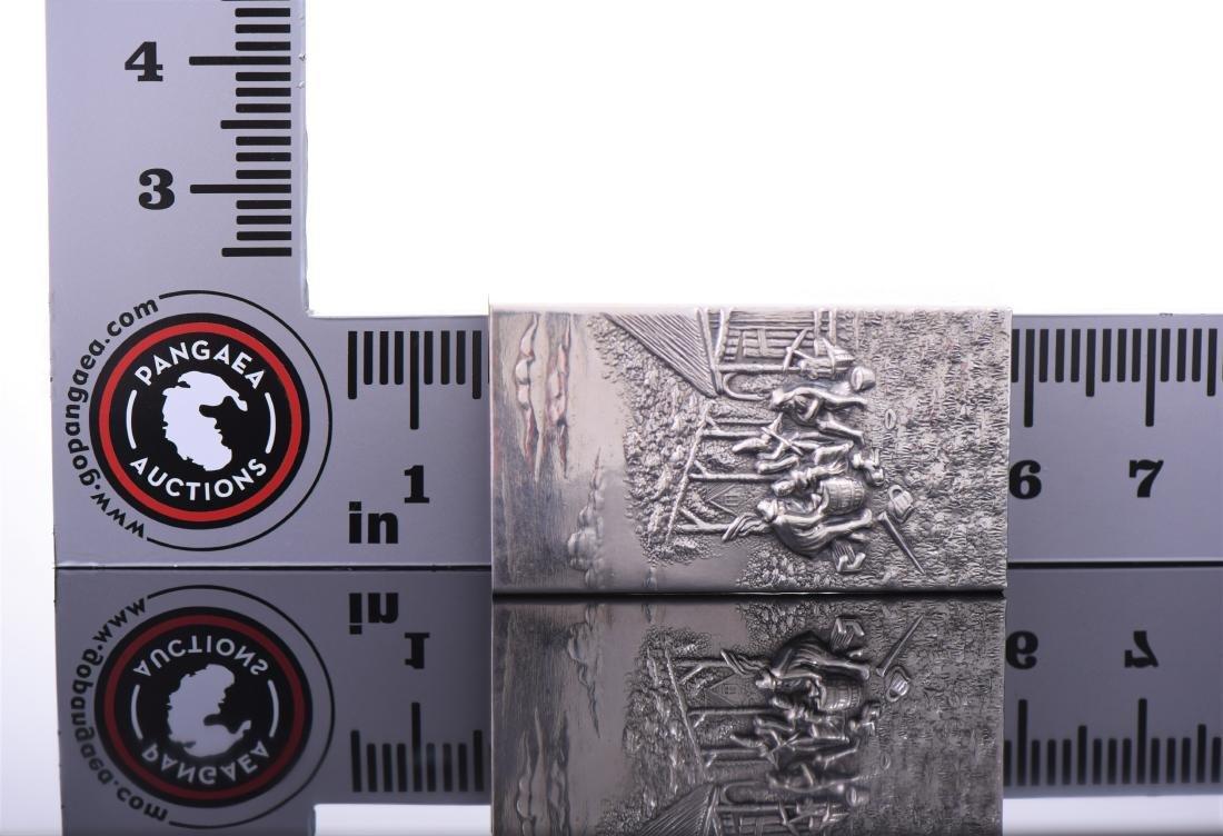 Silver Plated Denmark Cigarette Case - 5