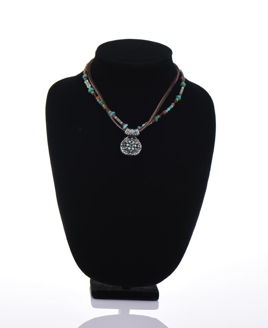 Sterling Silver With Turquoise, Malachite