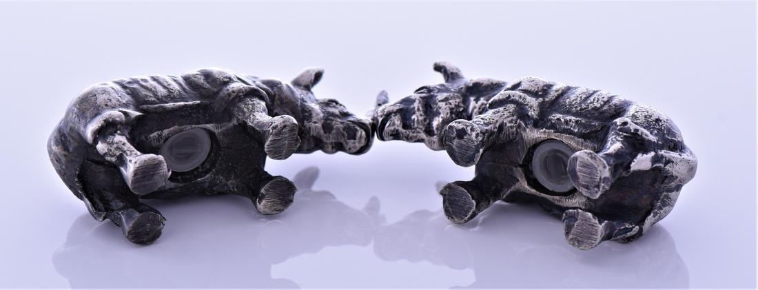 Two Metal Rhino Salt And Pepper Shakers. - 3