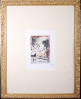 "Luis Icart (1888-1950) "" Stubborn Flame"".  Framed Un"