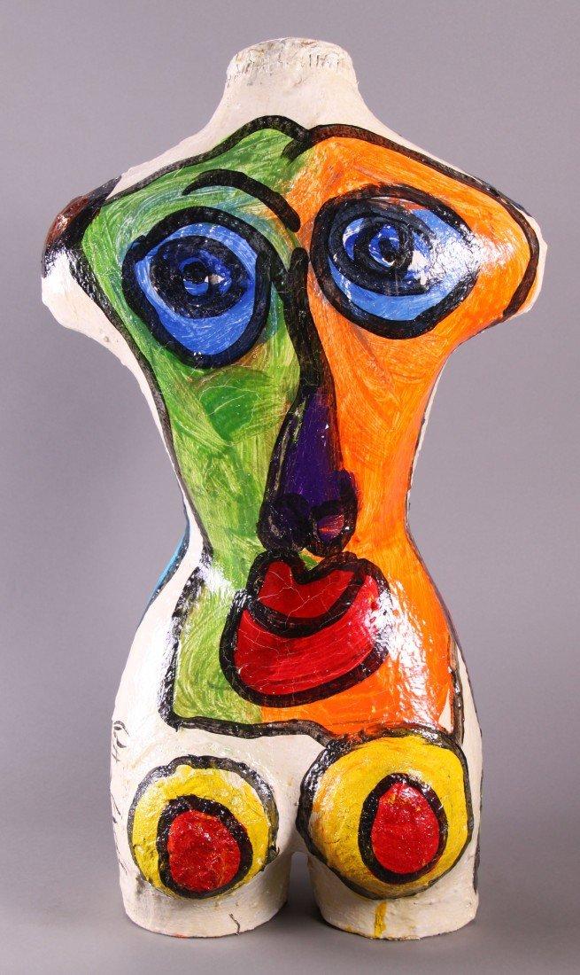 8: Peter Robert Keil (1942) Painted Torso sculpture.  O