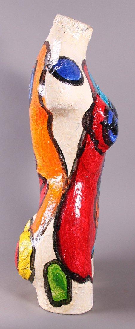 8: Peter Robert Keil (1942) Painted Torso sculpture.  O - 2