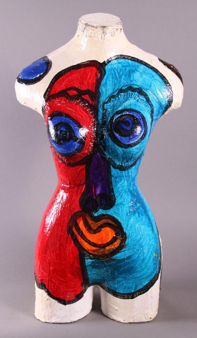 8: Peter Robert Keil (1942) Painted Torso sculpture.  O - 3