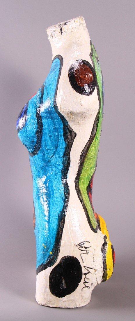 8: Peter Robert Keil (1942) Painted Torso sculpture.  O - 4