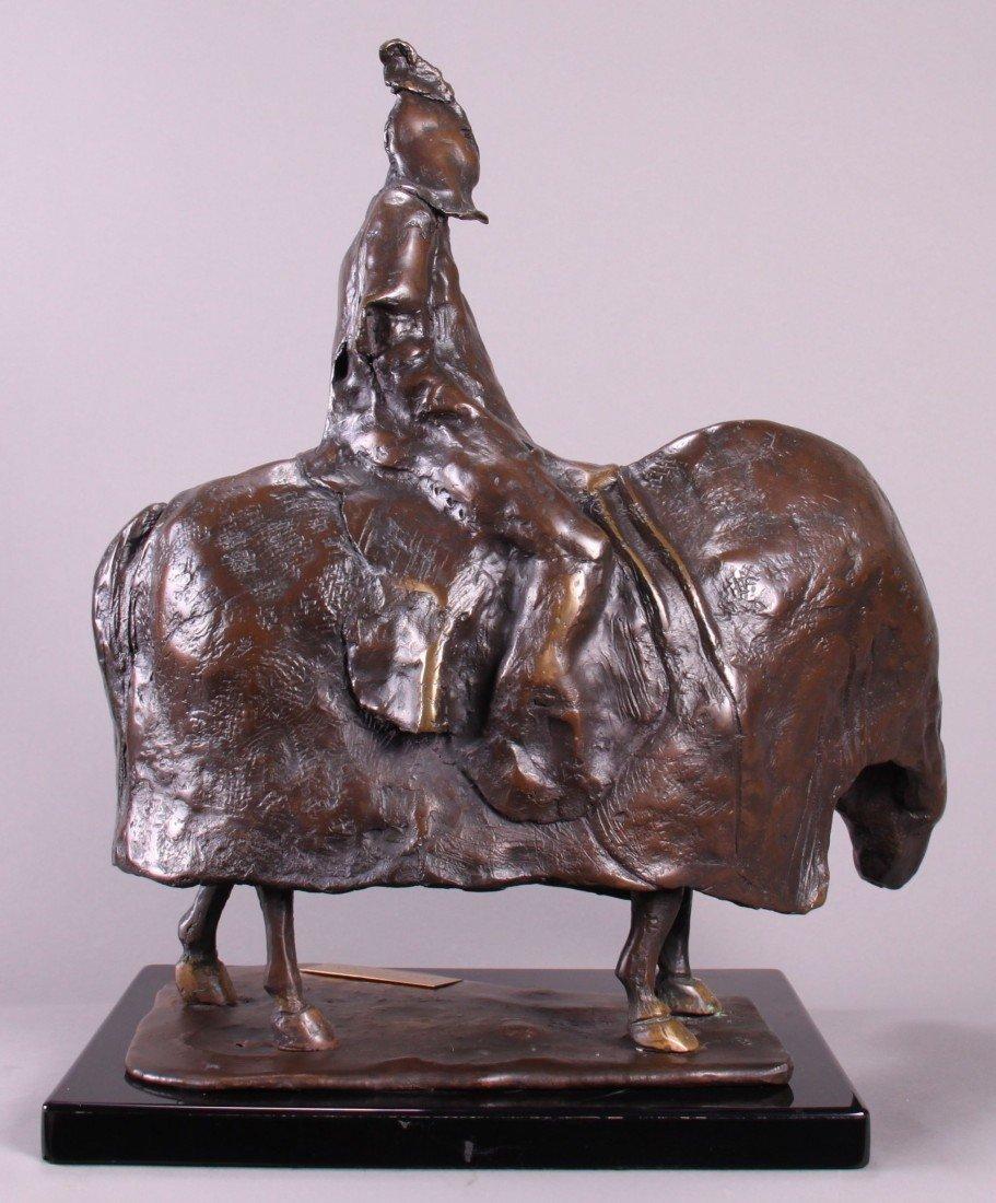 """10: Ann Taube Goodman (1905)  """"Pestilence"""", Bronze scu"""