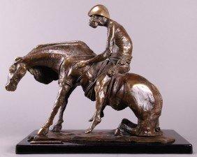 "Ann Taube Goodman (1905)  ""Famine"", Bronze Sculptu"