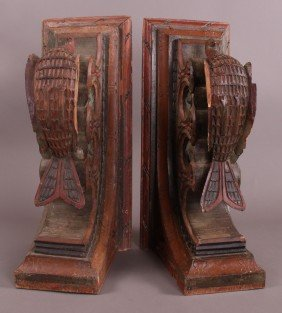 Early 1900's Architectural Elements (Set Of 2).  Ha