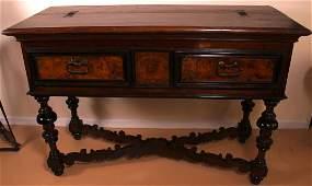 32: 18th Century Italian Walnut & Chestnut Desk. Walnu