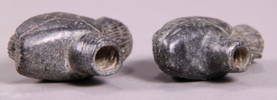 Native American Indian Artifact, Pair of Bird Stone Eff - 5